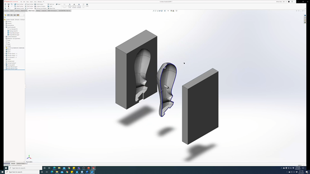 SOLIDWORKS 3DEXPERIENCE Mold Process Move Bodies