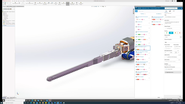 3DEXPERIENCE SOLIDWORKS cloud-connected Task State