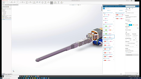SOLIDWORKS 3DEXPERIENCE Task State