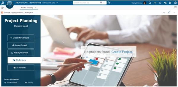 SOLIDWORKS 3DX Project Planning App