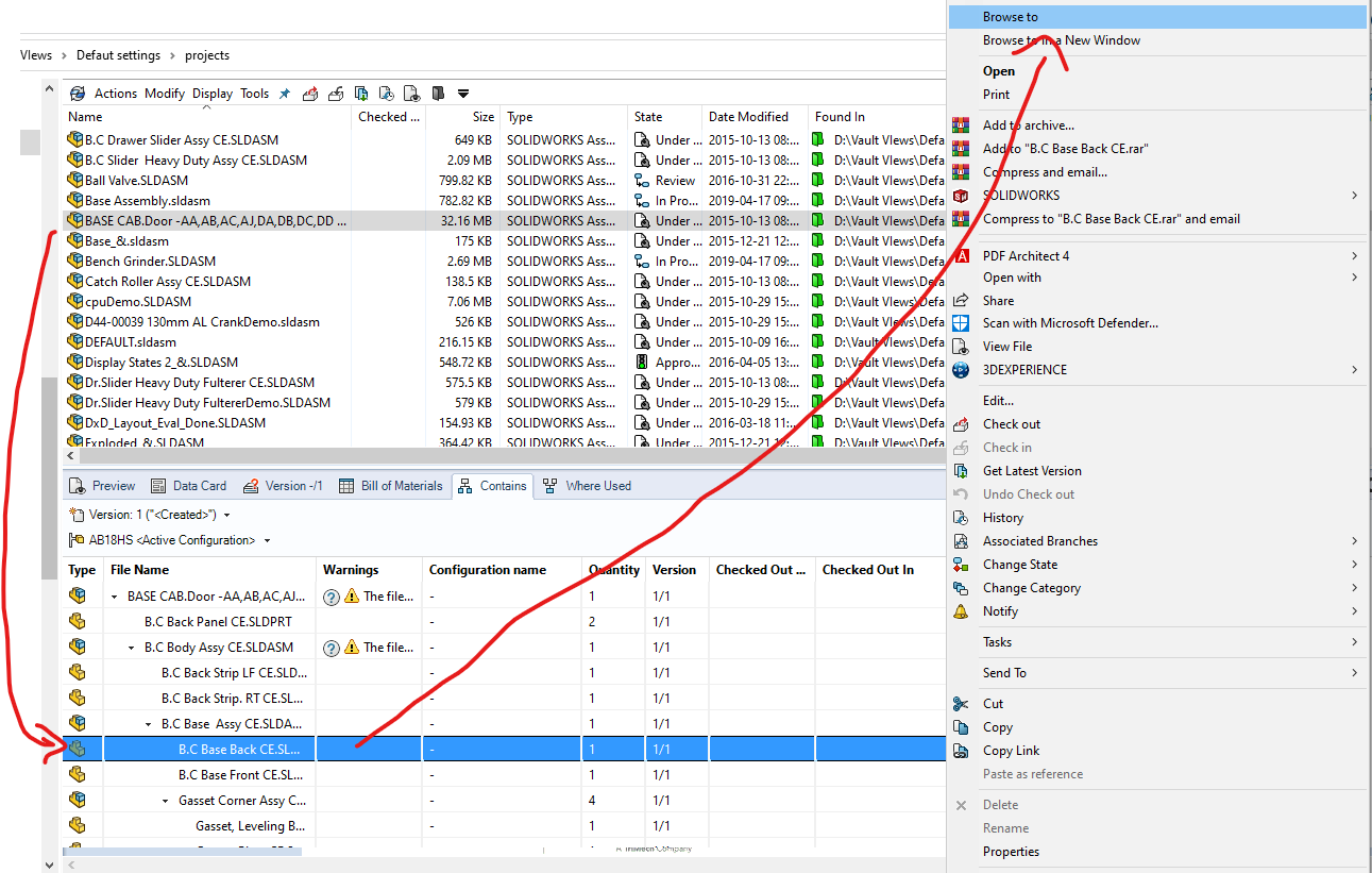 SOLIDWORKS PDM Browsing
