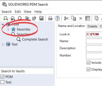 SOLIDWORKS PDM Files Favorites-1