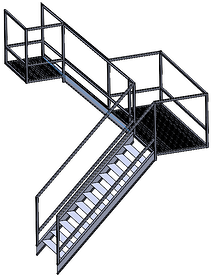 SOLIDWORKS Structure System Staircase1-1