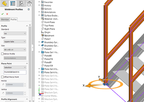 SOLIDWORKS Structure System Staircase3