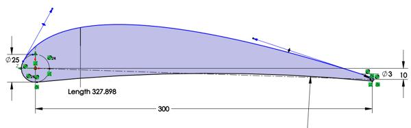 Airfoil Profile SOLIDWORKS Simulation