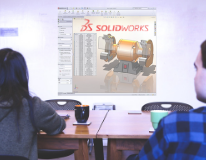 Students Learning SOLIDWORKS