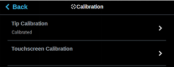 Tip Calibration