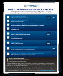 FDM 3D Printing Maintenance Checklist Infographic