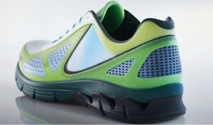 3D Printed Full-Color Multi-Material Athletic Shoe
