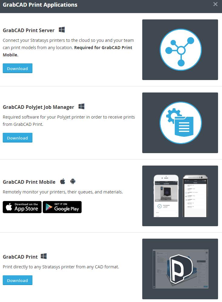 GrabCAD Print Applications