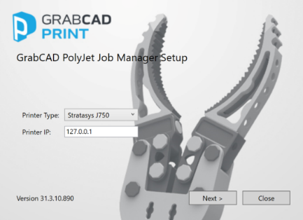Download and install GrabCAD Polyjet Job Manager