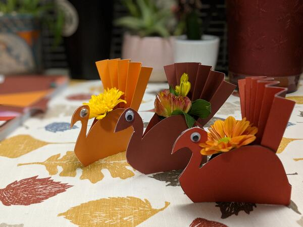 Thanksgiving turkey placeholders