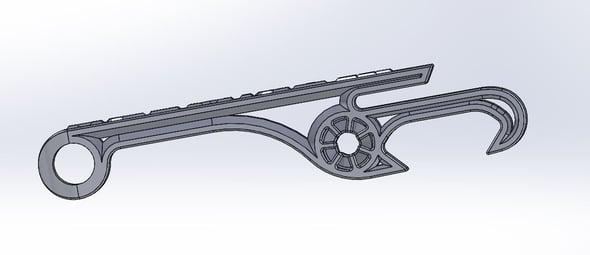TriMech Metal Bottle Opener Fillets Design