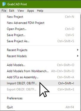GrabCAD Import OBJ. File