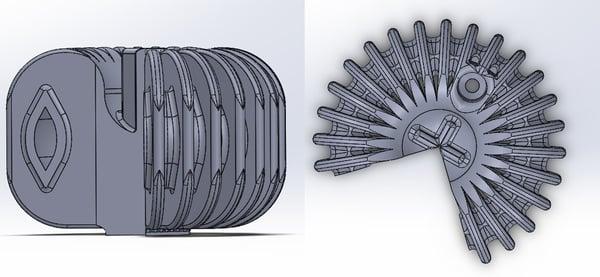 Heatsink 3D CAD Design