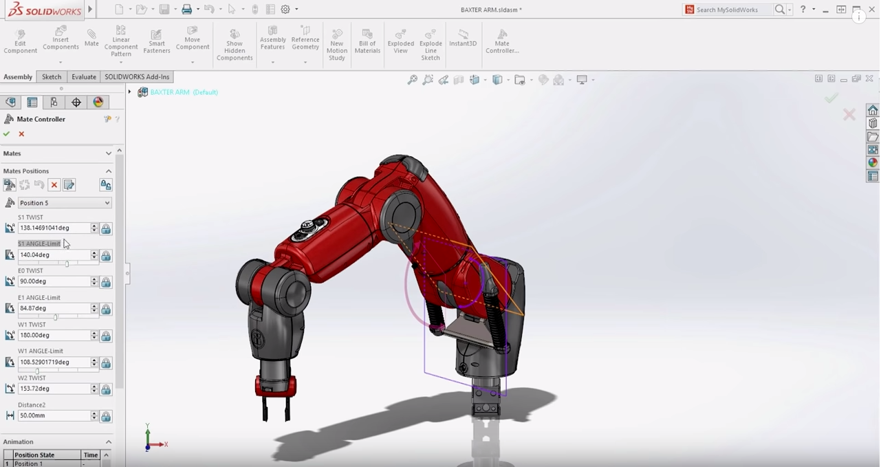 Robot Movement Simulation