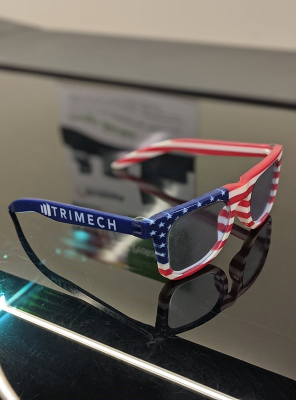 3D Printed TriMech Holiday Sunglasses