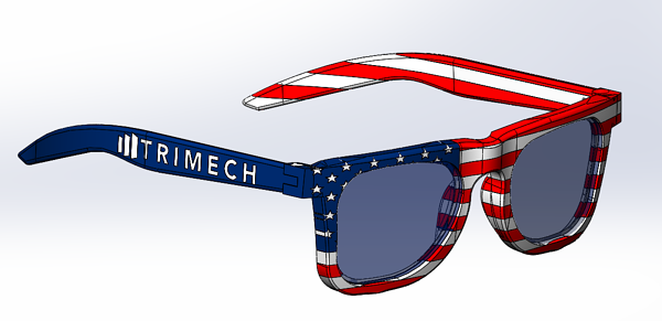 Holiday Sunglasses Design in GrabCAD Print