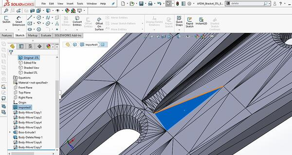 Importing Mesh into SOLIDWORKS