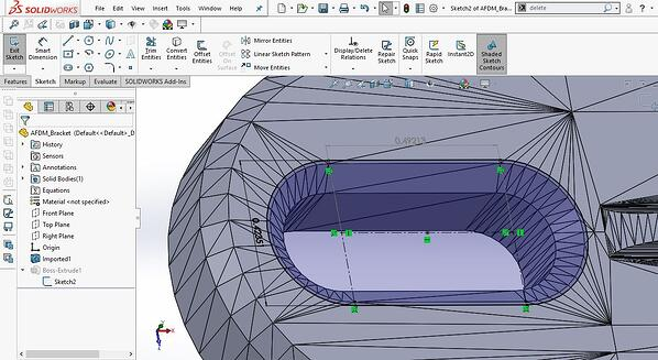 Sketch geometry in SOLIDWORKS