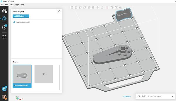 Sliced mesh in GrabCAD Print
