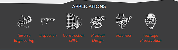 3d Scanning applications