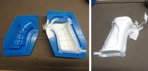 3D printed silicone molds