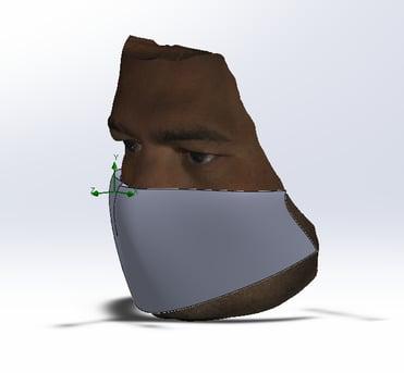 Face mask 3D CAD model