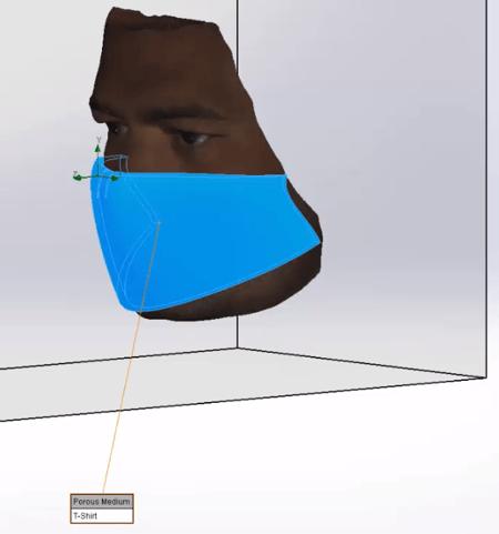Porous Medium face mask design