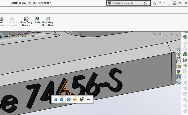 Applying Appearances in SOLIDWORKS