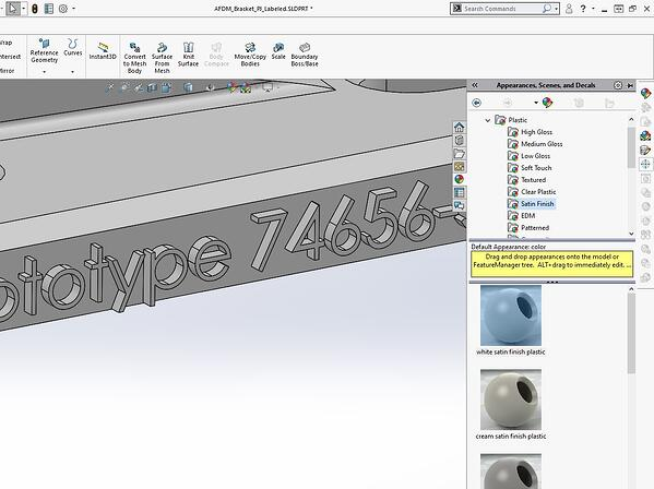 Applying text to File in SOLIDWORKS