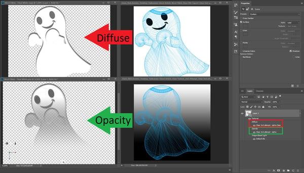 Photoshop Opacity Layer 2 - Explanation