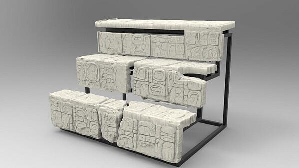 3D Scan of Mayan staircase