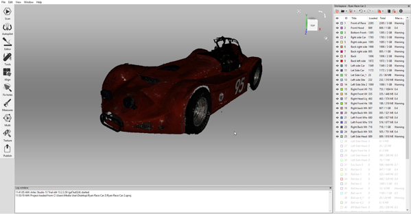 Car Scan in Artec Studio
