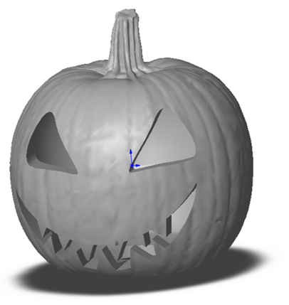 Carving a pumpkin in GeoMagic