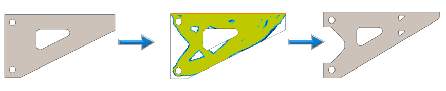Bracket Design Optimized Using Topology Study in SOLIDWORKS Simulation