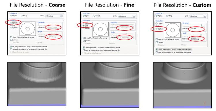 File resolution options