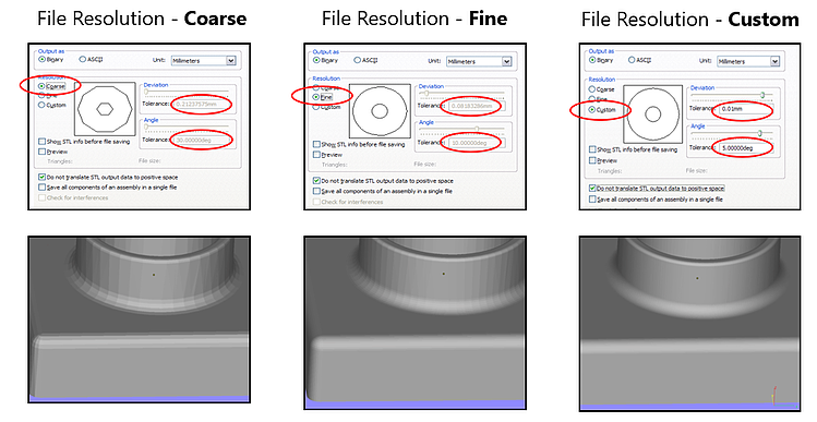 File resolution options