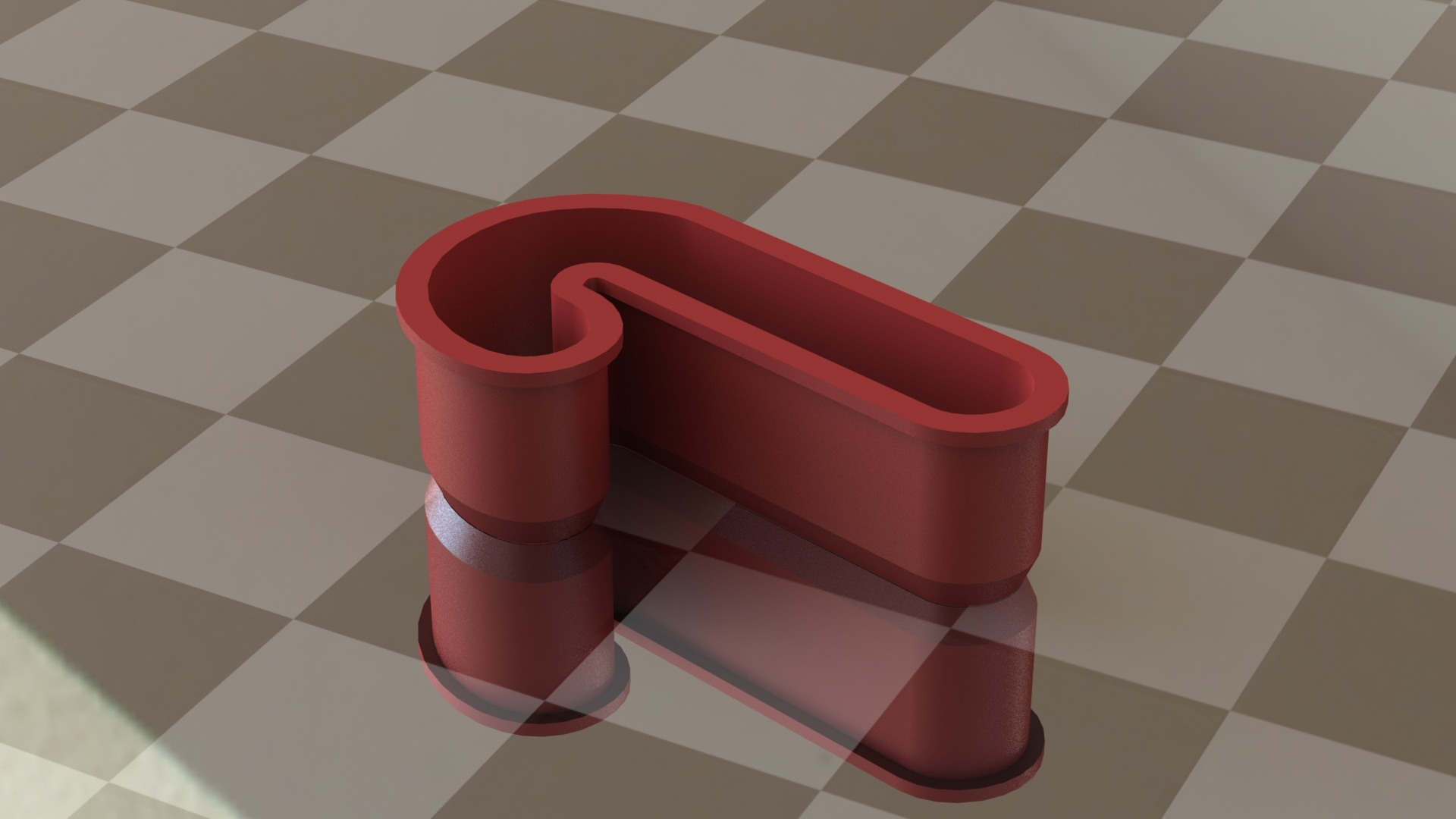 Candy Cane Render in SOLIDWORKS