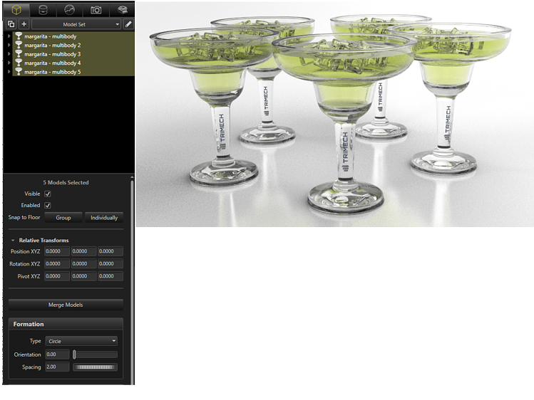 Margarita Rendering Create a Formation for Sharing in SOLIDWORKS Visualize