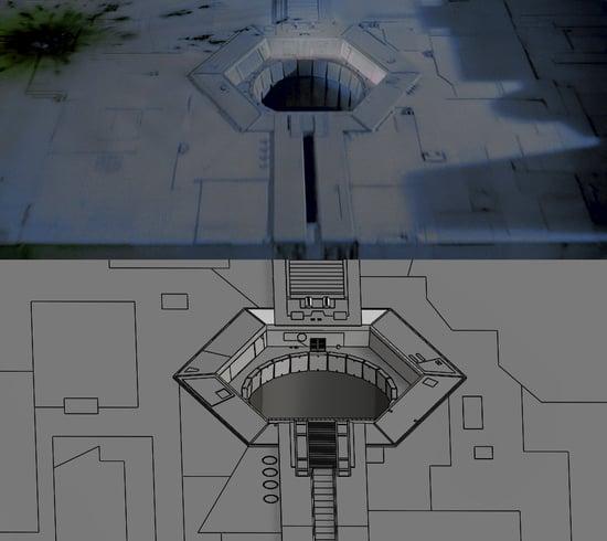 Original Death Star vs 3D Model