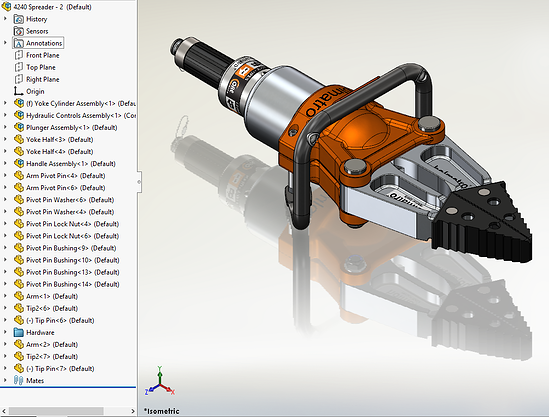 TriMech Example - SOLIDWORKS Visualize Export Simple