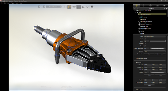 TriMech Example - SOLIDWORKS Visualize Export Simple Scene Tree