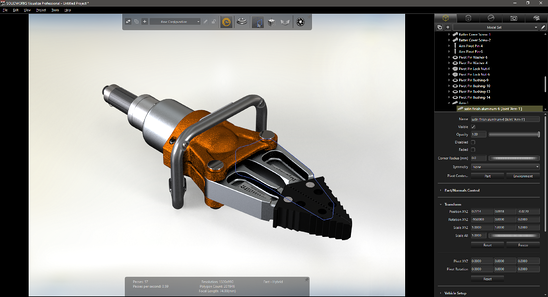 TriMech Example - SOLIDWORKS Visualize Export Advanced