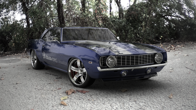 Camaro Image with Visualize Pro Post-Processing