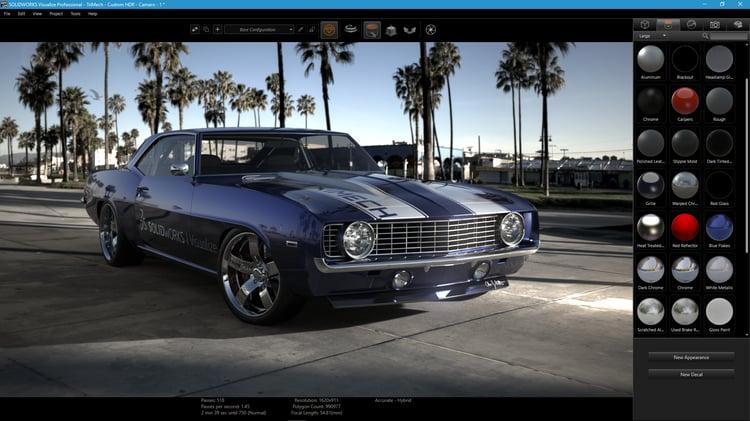 TriMech Camaro Visualize UI