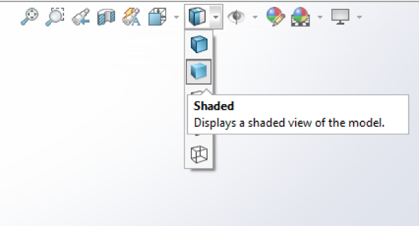 SOLIDWORKS View (Heads Up) toolbar