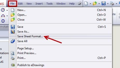 Save Sheet Formats