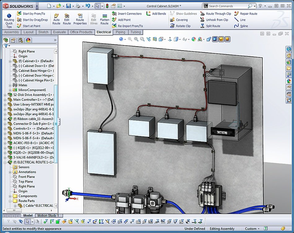 solidworks electrical design assembly