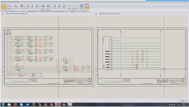 SOLIDWORKS Electrical Origin Destination